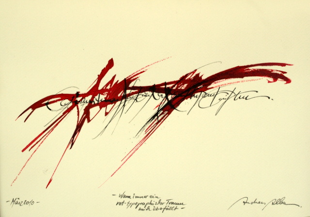 Andreas Alba Kalligrafie 1 - Andreas Alba - Abstrakte Harmonie - Ausstellung