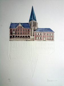 Bocholt Historische Rathaus Robers 1 225x300 - Kunst für Bocholt - Bilder - Grafiken - 3D - Pop Art - Accessoires