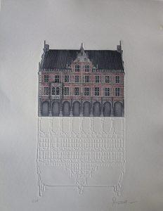 Bocholt Historische Rathaus Robers 2 232x300 - Kunst für Bocholt - Bilder - Grafiken - 3D - Pop Art - Accessoires