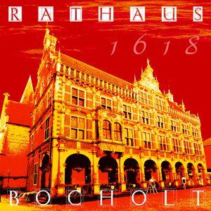 Bocholt Historisches Rathaus Frirt Art Orange 300x300 - Kunst für Bocholt - Bilder - Grafiken - 3D - Pop Art - Accessoires