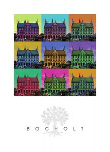 Bocholt Leinwanddruck. Motiv 2. Rathaus 9er. 70 x 100 cm 217x300 - Kunst für Bocholt - Bilder - Grafiken - 3D - Pop Art - Accessoires