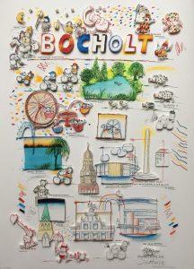 Wilhelm Schlote   3D Bocholt 216x300 - Kunst für Bocholt - Bilder - Grafiken - 3D - Pop Art - Accessoires