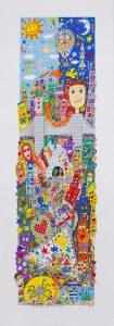1997 Rizzi Drawing attention overruns 105x300 - James Rizzi 2D - Pop Art ... ist einfach zeitlos ...