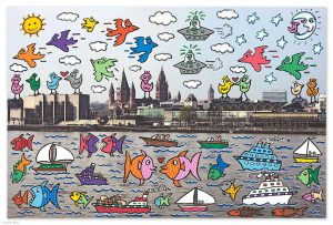2008 Rizzi10061 Lets all meet in Mainz 300x203 - James Rizzi 2D - Pop Art ... ist einfach zeitlos ...
