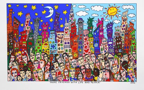 MAKE FRIENDS WITH LIFE AND PEOPLE 464x290 - James Rizzi 2D - Pop Art ... ist einfach zeitlos ...