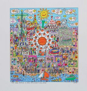 THE BIG APPLE IS BIG ON CONEY ISLAND 286x300 - James Rizzi 2D - Pop Art ... ist einfach zeitlos ...