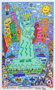 The Big Apple Is Big On Liberty 185x300 - James Rizzi 2D - Pop Art ... ist einfach zeitlos ...