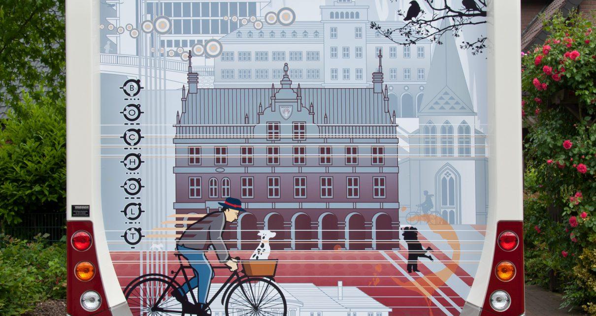 2013.06.17. Ansicht Wohnmobil Postkartenmotiv Fahrradfahrer Bocholt ART NETWORK 1210x642 - KUNST TUT GUT TV  - Individuelle Kunst