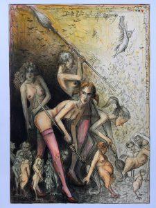 Andreas Nossmann   10   Der grosse Rausschmiss   Variationen zu Goya 1 225x300 - Andreas Noßmann - Zeichnungen und Radierungen