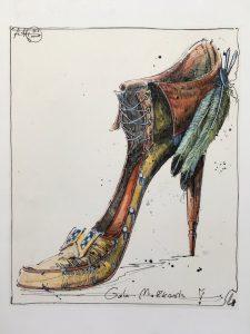 Andreas Nossmann   3   Gala Mokkasin   Charlies Schuh 225x300 - Andreas Noßmann - Zeichnungen und Radierungen