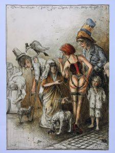 Andreas Nossmann   9   Die Strassenkinder   Variationen zu Goya 225x300 - Andreas Noßmann - Zeichnungen und Radierungen
