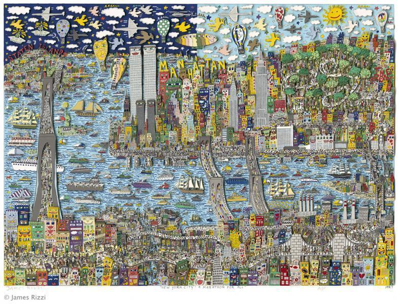 James Rizzi New York City A Marathon For All Kunst