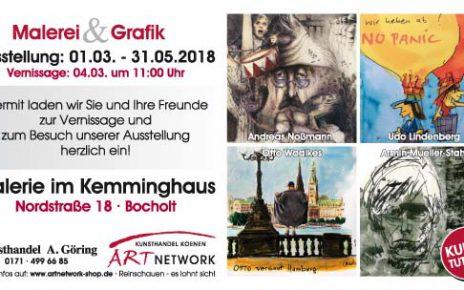 """Maxikarte Kemminghaus Bildseite kleine Datei 464x290 - Die Ausstellung """"Malerei & Grafik - im Kemminghaus"""" - Bocholt - Nordstraße 18"""