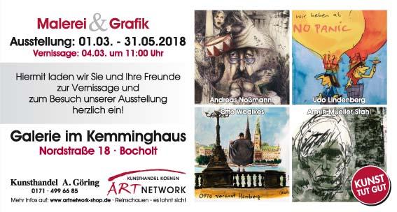 """Maxikarte Kemminghaus Bildseite kleine Datei - Die Ausstellung """"Malerei & Grafik - im Kemminghaus"""" - Bocholt - Nordstraße 18"""