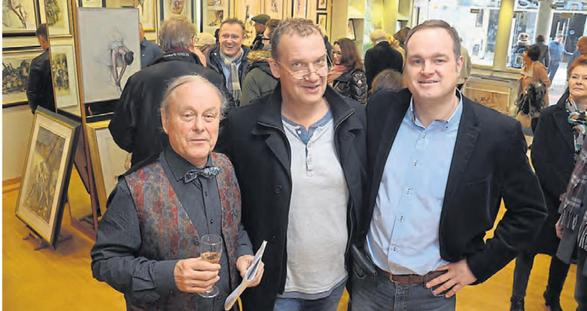 ART NETWORK Hermann Goering Andreas Nossmann Vernissage Kemminghaus BBV Sven Rueger 1210x642 - Die Bocholter Kunsthändler Peter Koenen und Hermann Göring stellen aus