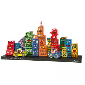 26101521 James Rizzi Mini Skyline 300x300 - POP ART goes Porzellan - mit Goebel