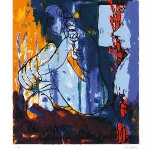 """Cleopatra 65x50 roem.klein  300x300 - Armin Mueller-Stahl - Mappe """"Shakespeares Mädchen und Frauen"""""""