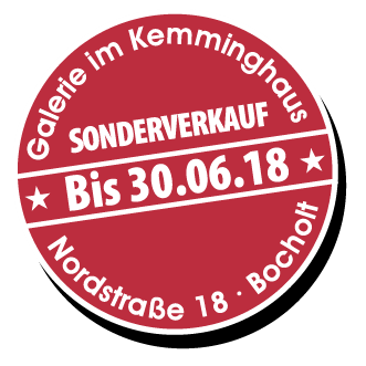 "Button Kemminghaus 30.06.2018 - Verlängerung bis 30.06.2018 ""Galerie im Kemminghaus"" Bocholt"