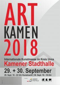 ART KAMEN 2018 Plakat 212x300 - Wir sind auf derArt Kamenim Kreis Unna - und Sie?