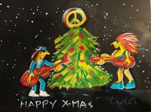 Grafik   Udo Lindenberg   Happy X Mas 300x224 - Alle Jahre wieder - Weihnachten im ART NETWORK Shop