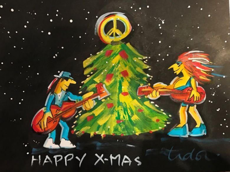 Grafik   Udo Lindenberg   Happy X Mas - Udo Lindenberg