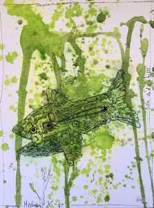 Petra Grunden Boeing   Fisch and Chips 1.1 223x300 - Petra Grunden-Böing - eine Künstlerin mit ganz besonderer Handschrift