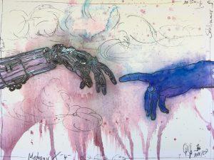 Petra Grunden Boeing   Schlimmer Finger 1.1 300x225 - Petra Grunden-Böing - eine Künstlerin mit ganz besonderer Handschrift