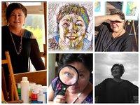 Petra Grunden Boeing Collage Fotos - Petra Grunden-Böing - eine Künstlerin mit ganz besonderer Handschrift