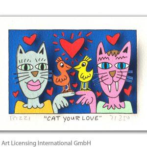 RIZZI10279   James Rizzi   Cat your love 300x300 - Die neue JamesRizziKollektion im ART NETWORK Online Shop