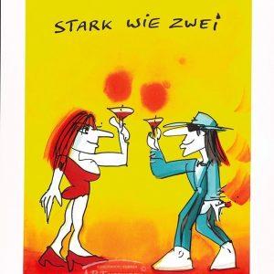 Grafik   Udo Lindenberg   Stark wie zwei 2018 300x300 - Sag es durch... Kunst - Valentinstag im Kunsthandel Koenen ART NETWORK