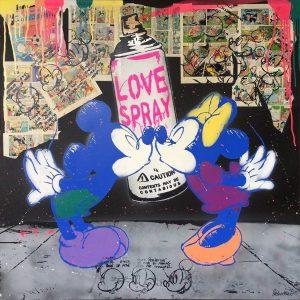 Michel Friess   Mickey Lovespray 300x300 - Sag es durch... Kunst - Valentinstag im Kunsthandel Koenen ART NETWORK