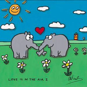 Otto Waalkes Love is in the Air II 40x40cm 300x300 - Sag es durch... Kunst - Valentinstag im Kunsthandel Koenen ART NETWORK