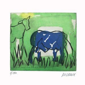 blaue kuh im gruenen f 300x300 - Neue Werke vonArmin Mueller-Stahl