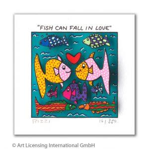 RIZZI10289 James Rizzi Fish can fall in love 300x300 - Neues von JamesRizzi- Minis, Hochformate und Meer