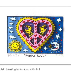 RIZZI10291 James Rizzi Purple love 300x300 - Neues von JamesRizzi- Minis, Hochformate und Meer