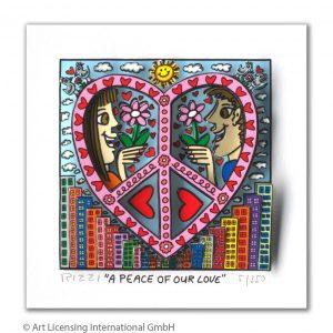 RIZZI10295 James Rizzi A Peace of our love 300x300 - Neues von JamesRizzi- Minis, Hochformate und Meer