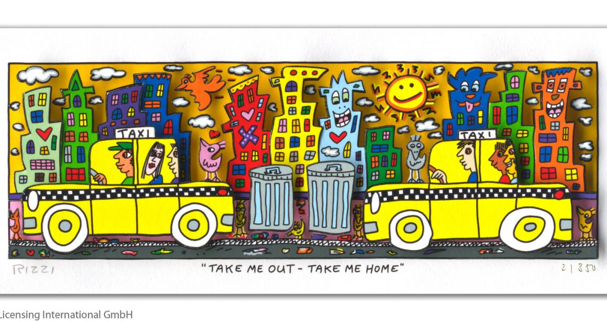 RIZZI10302 James Rizzi Take me out take me home 1210x642 - Neues von James Rizzi - Minis, Hochformate und Meer