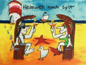 Grafik Udo Lindenberg Heimweh nach 56x42cm 2019 300x226 - Neues von Udo Lindenberg im Kunsthandel Koenen ART NETWORK