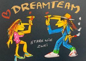 Udo Lindenberg Dreamteam Stark wie zwei 300x214 - Neues von Udo Lindenberg im Kunsthandel Koenen ART NETWORK