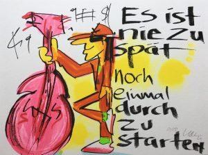 Udo Lindenberg Es ist nie zu spaet noch einmal durch zu starten 2019 300x223 - Neues von Udo Lindenberg im Kunsthandel Koenen ART NETWORK