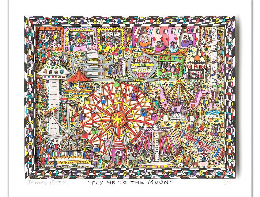2015 RIZZI10217 Fly me to the moon 849x642 - Mit James Rizzi Im Karussell über den Horizont fliegen