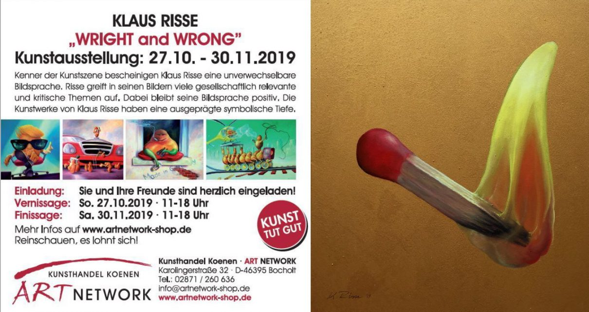 "Kunstausstellung WRIGHT and WRONG Klaus Risse ART Network 1210x642 - Einladung zur Kunstausstellung - Klaus Risse ""WRIGHT and WRONG"""
