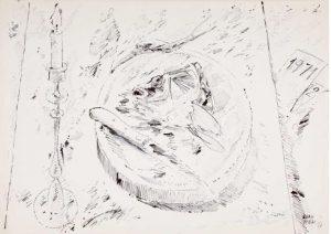 Guenter Grass   Fisch mit Leuchter 300x212 - Das besondere Kunstwerk : Fisch mit Leuchter - Günter Grass