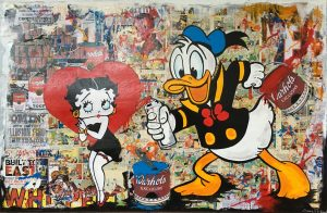 Claus Schenk Donald Betty LOVE Kunsthandel Koenen 2020 300x196 - Donald im Fokus - neues von Claus Schenk