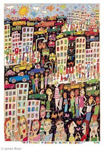2006 RIZZI In a trance of colorful glance by chance 206x300 - James Rizzi