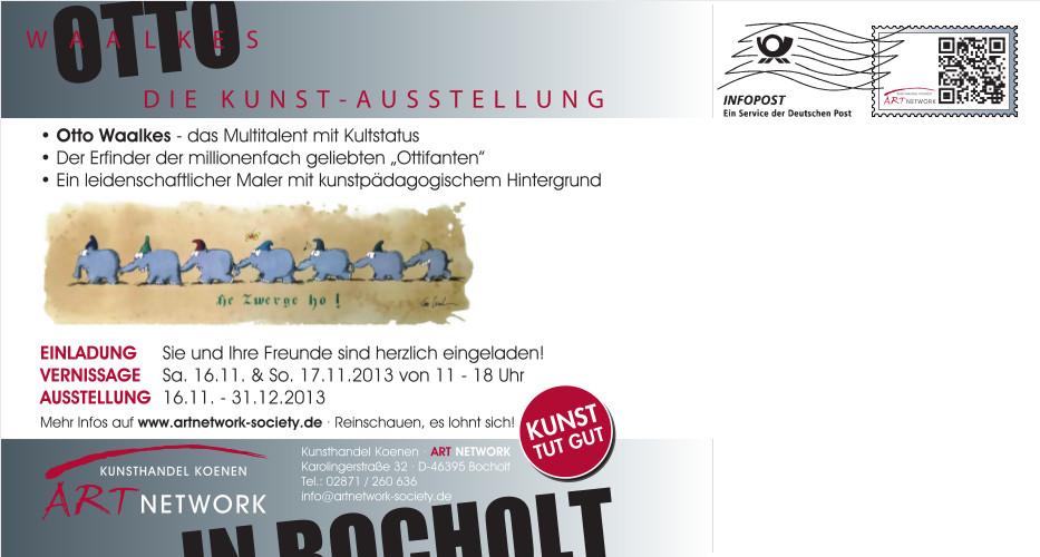 Ausstellung. Otto Waalkes Maxikarte Rueckseite full - Otto Waalkes