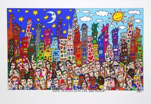 MAKE FRIENDS WITH LIFE AND PEOPLE 300x207 - James Rizzi