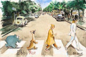 Otto Waalkes   Ebbi Rot Abbey Road 1 300x200 - Otto Waalkes