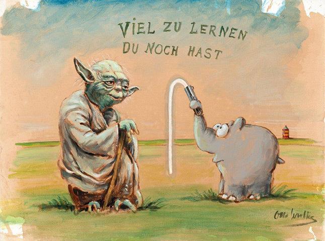 Otto Waalkes   Viel zu lernen du noch hast 53 x 66 cm - Otto Waalkes