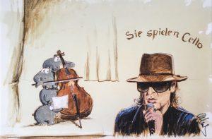 Otto Waalkes Sie spielen Cello 300x197 - Otto Waalkes